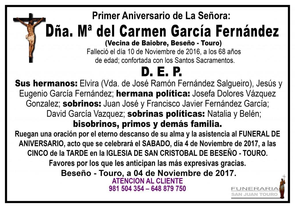 Maria del Carmen Garcia Fernández